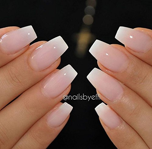Coffin Nail Tips 600Pcs Artificial Nails Btartbox Short Ballerina ...