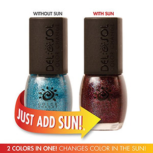 Del Sol Color Changing Nail Polish, Quick Dry Lacquer That Changes Hue In The Sun
