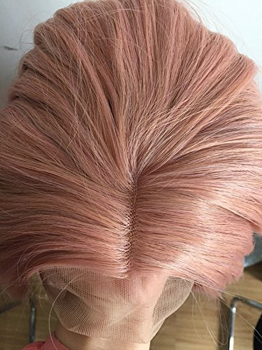 Peach Red Wigs For Women Rosie Whiteley Hairstyle Rose Gold Pastel