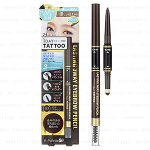K-Palette - Lasting 3 Way Eyebrow Pencil (#03 Mocha Brown)