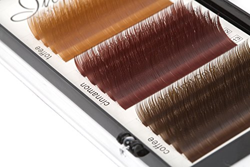 fac31c5a4e0 Mixed C-Curl Brown Synthetic Mink Eyelash Extension Tray By Infinit | 14  Rows Of