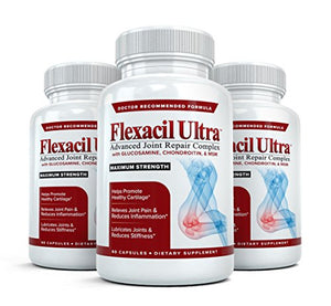 Flexacil Ultra - (3 Bottles, 60 Caps Each) The Most Advanced Joint Repair And Pain Relief Formula - Premium Grade...