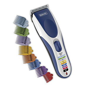 Wahl Clipper Color Pro Cordless Rechargeable Hair Clippers, Hair Trimmers, 21 Pieces Hair Cutting Kit, Color Coded Guide Combs For Men, Kids And Babies By The  Brand Used By Professionals. #9649