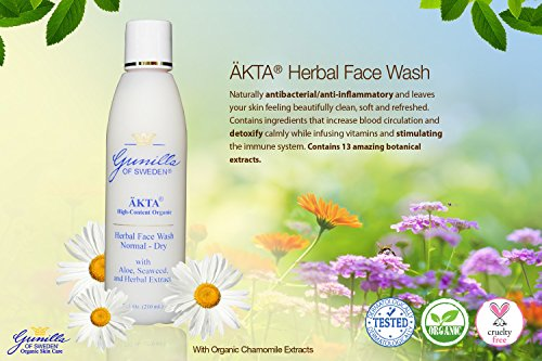 Kta Herbal Organic Face Wash For Normal/Dry Skin 7 Oz: Based On Nutrient  Rich Organic Aloe- 13 Organic Botanical Extracts Provide Anti-Aging  Benefits-