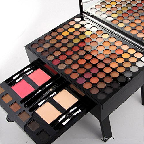Pure Vie Professional 180 Colors Large Eyeshadow Concealer Blush Lip Gloss Palette Makeup Contouring Kit For Salon And Daily Use
