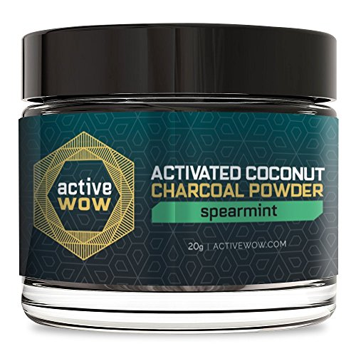 Active Wow Teeth Whitening Charcoal Powder Spearmint