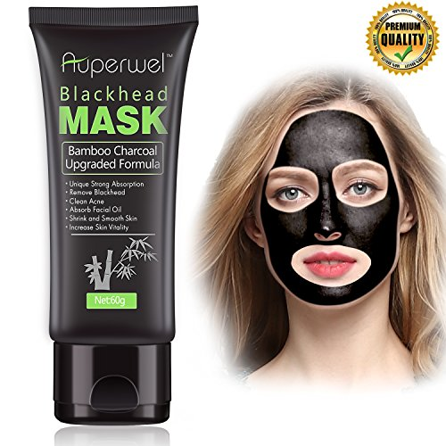 73fea326456b Auperwel Black Mask, Blackhead Remover Mask, Activated Charcoal Face Mask  Peel Off Mask Deep Cleaning Facial Mask Nose Mud Mask Pore Cleaner For Acne  ...