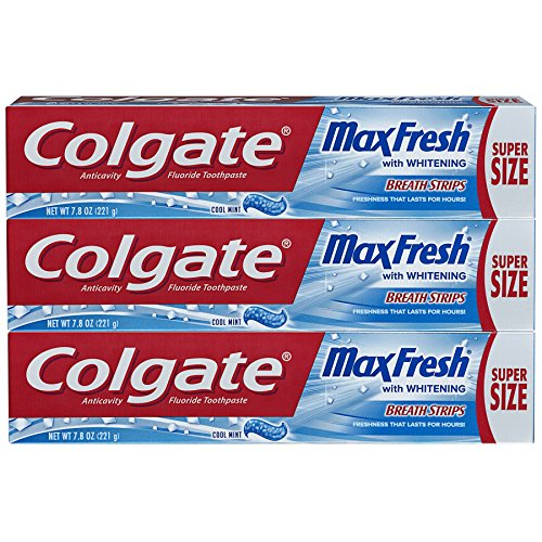 Colgate Max Fresh Toothpaste With Breath Strips- Cool Mint - 7.8 Ounce
