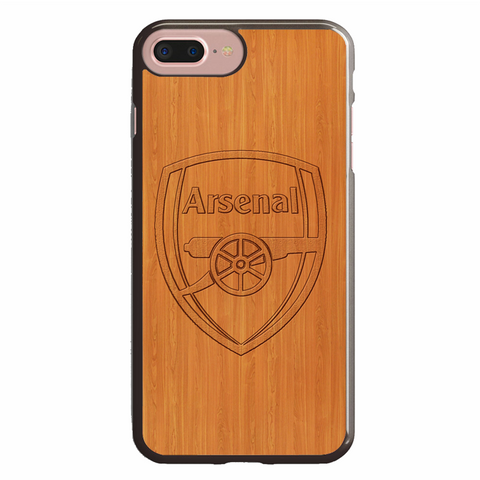 Arsenal Logo Woody Background
