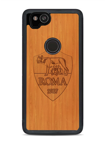 AS Roma Logo Woody Background