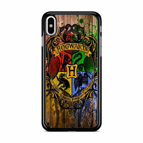 Harry Potter Hogwarts Logo Woody Background