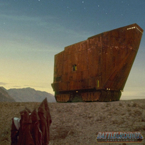 "1/6th Scale STAR WARS SANDCRAWLER on TATOOINE 15""x15"" Diorama Backdrop"