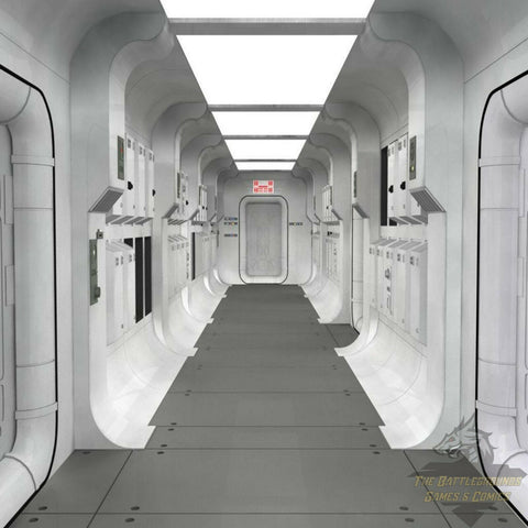 "1/6th Scale STAR WARS TANTIVE IV CORRIDOR 15""x15"" Diorama Backdrop"