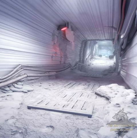 "1/6th Scale STAR WARS ECHO BASE INTERIOR 15""x15"" Diorama Backdrop"