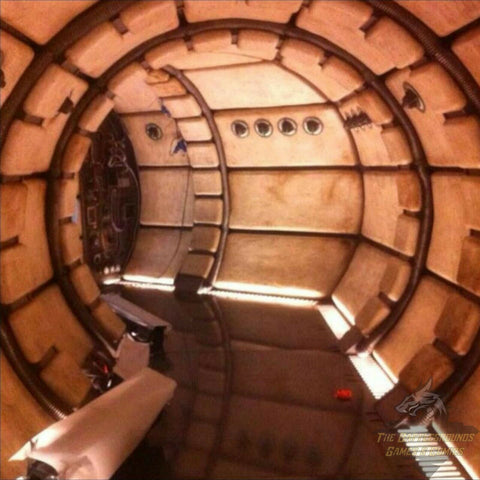"1/6th Scale STAR WARS SPACESHIP INTERIOR 15""x15"" Diorama Backdrop"