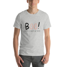 Load image into Gallery viewer, Breast Cancer Awareness - BOO! - Short-Sleeve Unisex T-Shirt