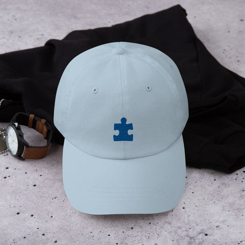 Autism Awareness Puzzle Piece - Dad hat