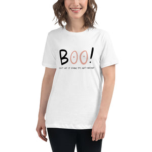 Breast Cancer Awareness - BOO! - Women's Relaxed T-Shirt