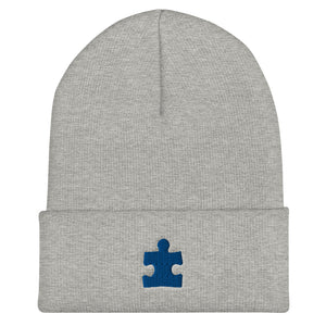 Autism Awareness - Puzzle Piece - Cuffed Beanie