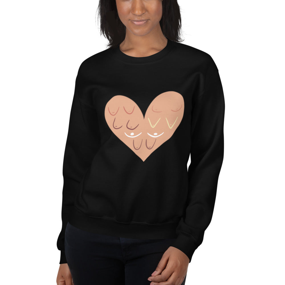 Breast Cancer Awareness - With Love - Unisex Sweatshirt