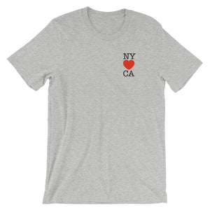 NY Loves CA - Short-Sleeve Unisex T-Shirt