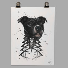 "Load image into Gallery viewer, Fine Art Print ""Pitbull Slice"""