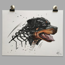 "Load image into Gallery viewer, Fine Art Print ""Rottweiler Slice"""