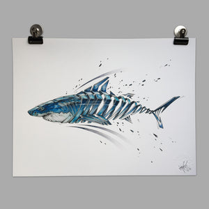 "Fine Art Print ""Shark Slice"""