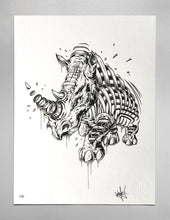"Load image into Gallery viewer, Silkscreen Print ""Rhino Slice"""