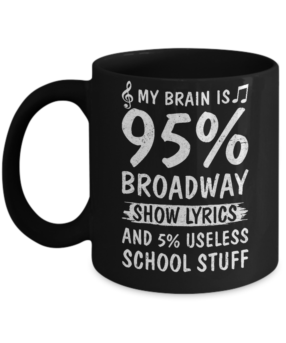 95Broadway Show My 11oz Is Brain 5Useless Lyrics Mug zUVSMp