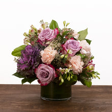 Maeve flower arrangement from Hedonia Flowers - A bouquet of premium mauve, peach, and plum flowers