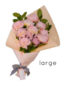 Peony bouquet from Hedonia Flowers. Free next-day delivery to Chicago.