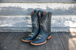Cowboy Boots 'Coffee Stitching'