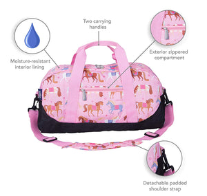 Horse Equestrian Design Kids Overnight Duffel Bag