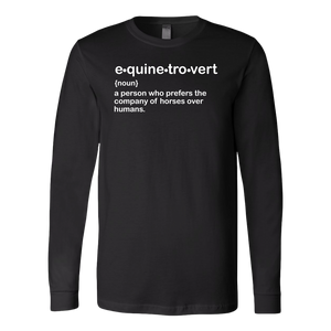 """Equinetrovert"" Unisex Long Sleeve Shirt"