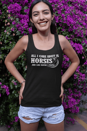 """All I Care About Is Horses"" Women's Racerback Tank Top"