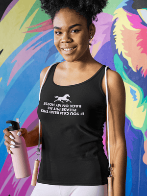 """If You Can Read This"" Women's Racerback Tank Top"