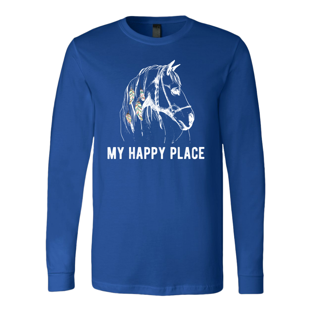 """My Happy Place"" Unisex Long Sleeve Shirt"