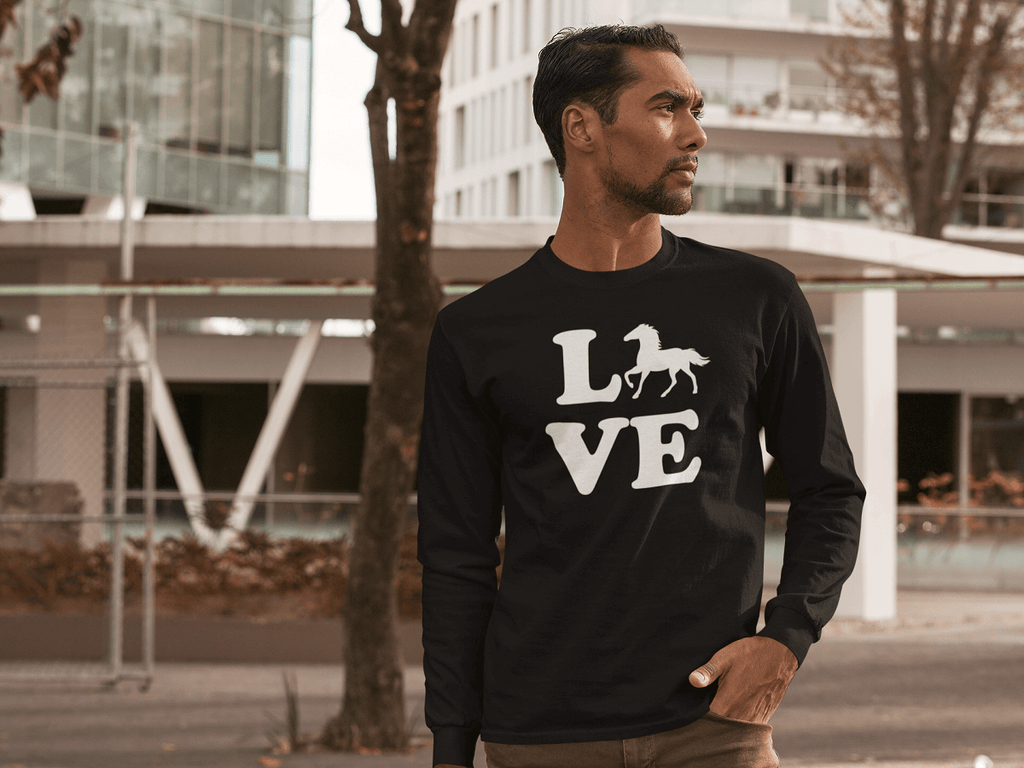 """Love Horse"" Unisex Long Sleeve Shirt"