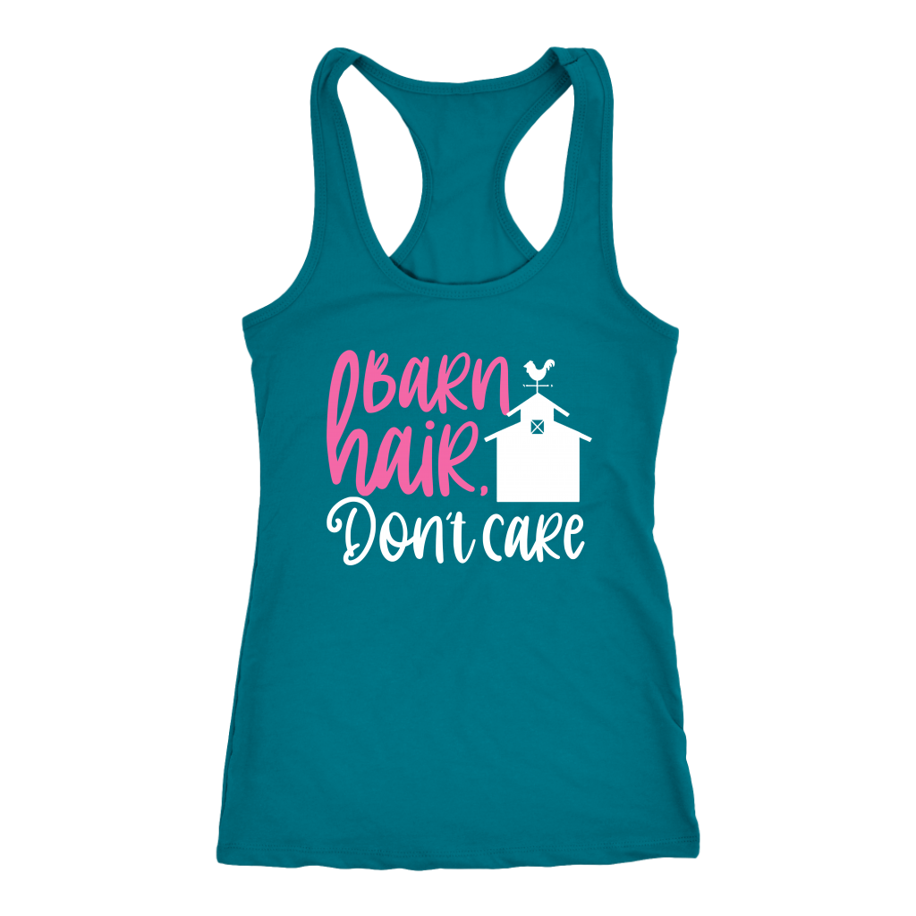 """Barn Hair Don't Care"" Women's Racerback Tank Top"