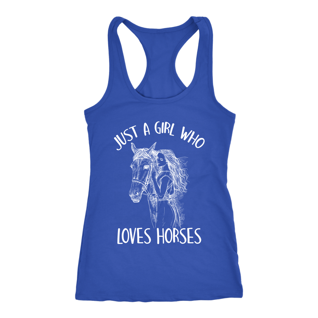 """Just A Girl Who Loves Horses"" Women's Racerback Tank Top"