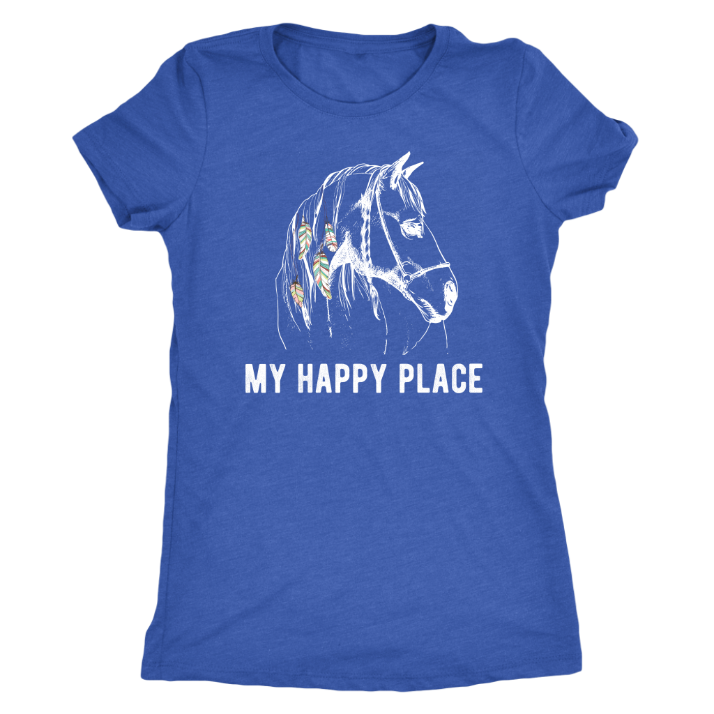 """My Happy Place"" Women's Triblend T-Shirt"