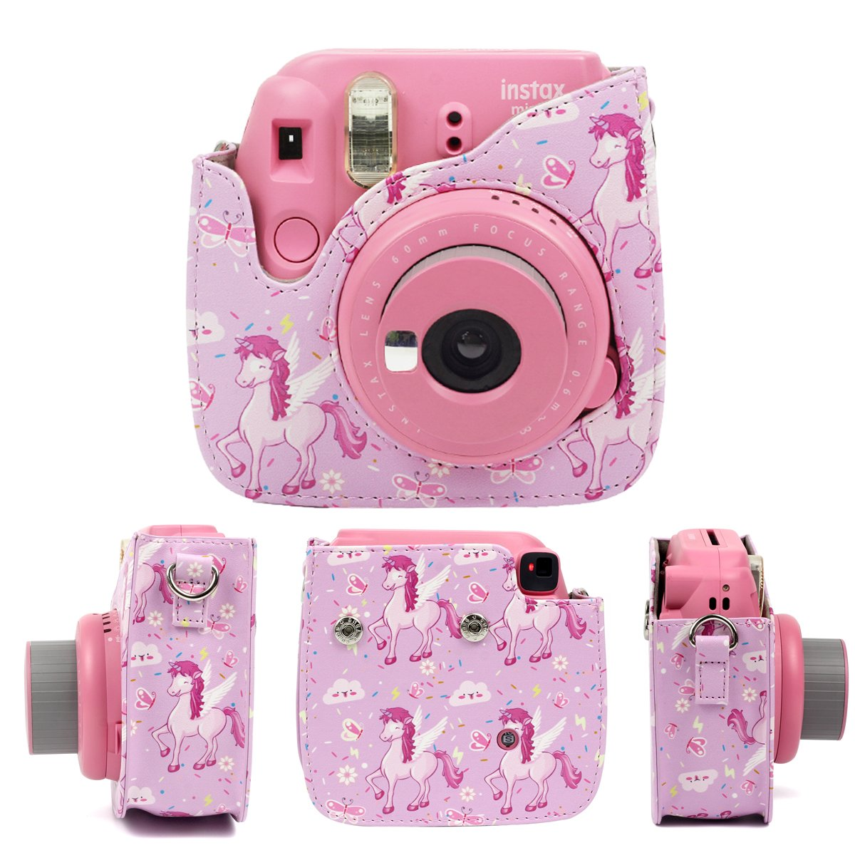 Pink Horse Camera Case Bundle For Fujifilm Instax 8, 8+, 9