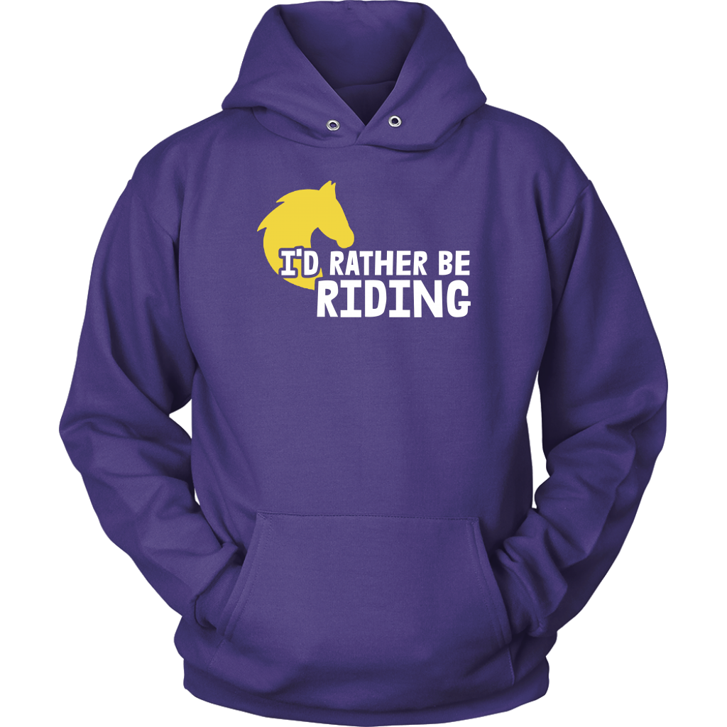 """I'd Rather Be Riding"" Unisex Hoodie"
