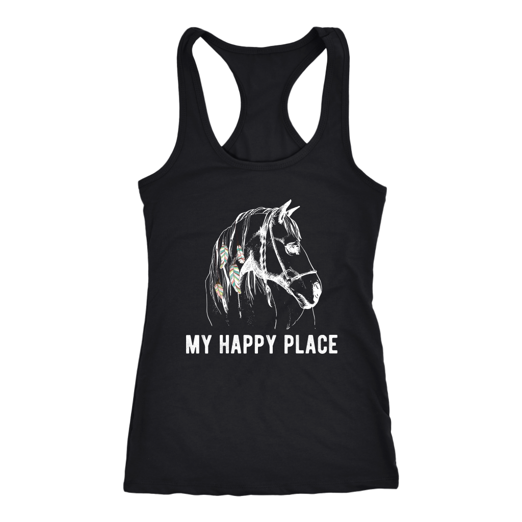 """My Happy Place"" Women's Racerback Tank Top"