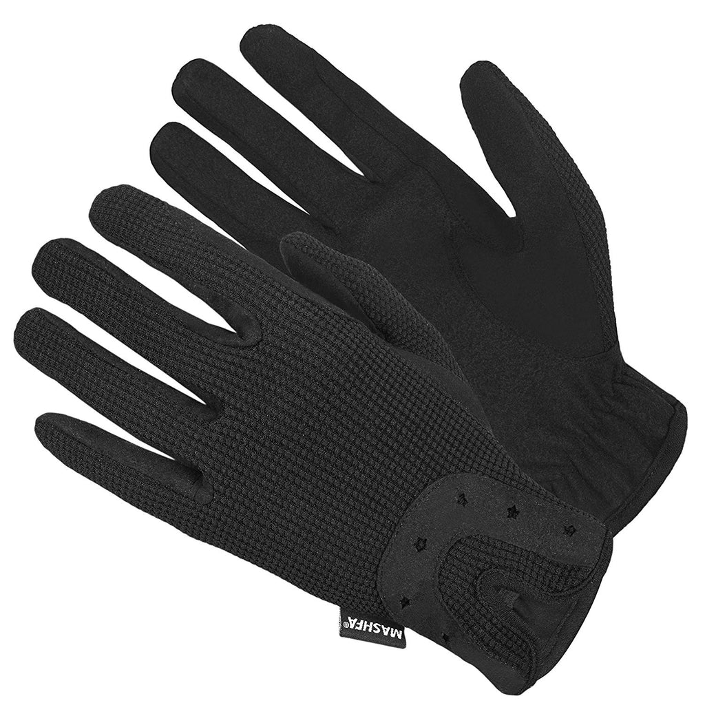 Women's Black Equestrian Horseriding Gloves