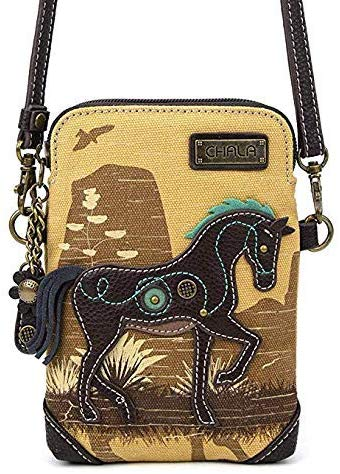 Canvas Crossbody Horse Handbag