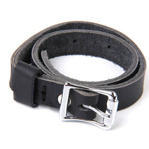 Unisex Black English Spur Straps