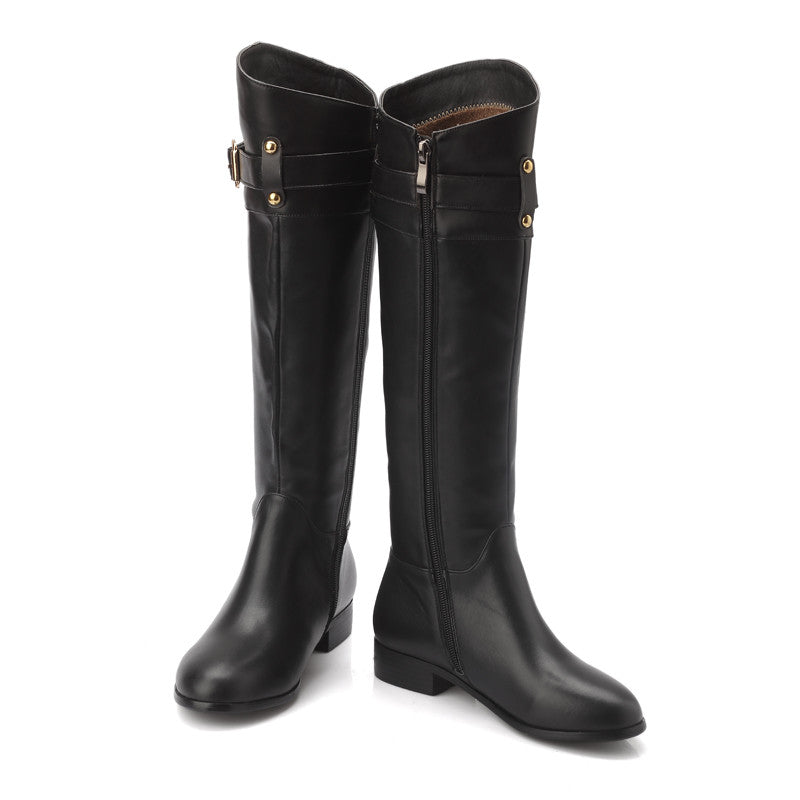 Genuine Leather Women's Equestrian Riding Boots