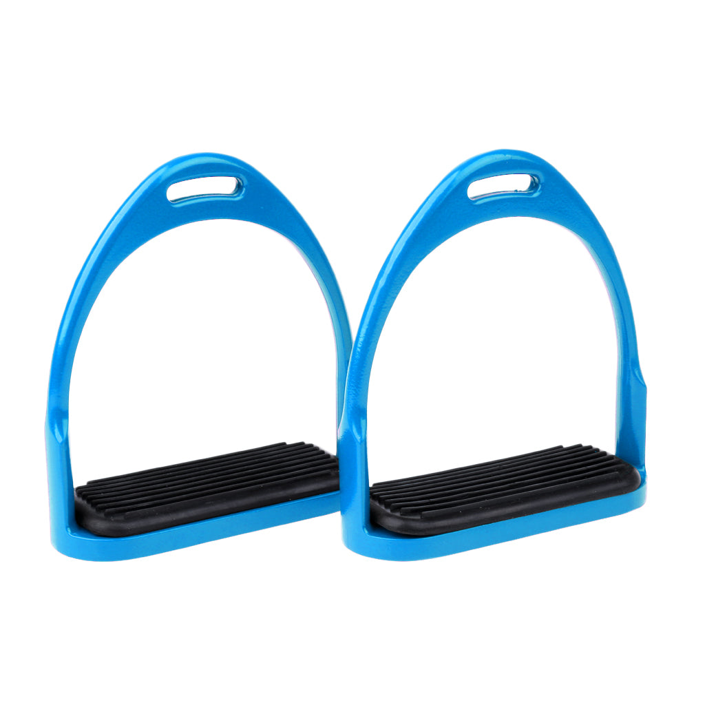 Blue Aluminum Equestrian Riding Stirrups